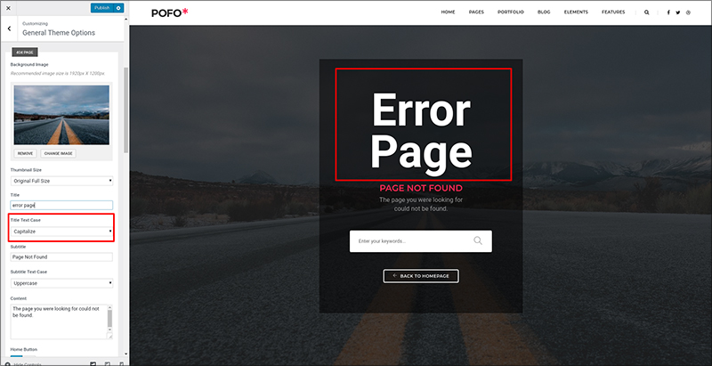 General Theme Options Pofo Documentation