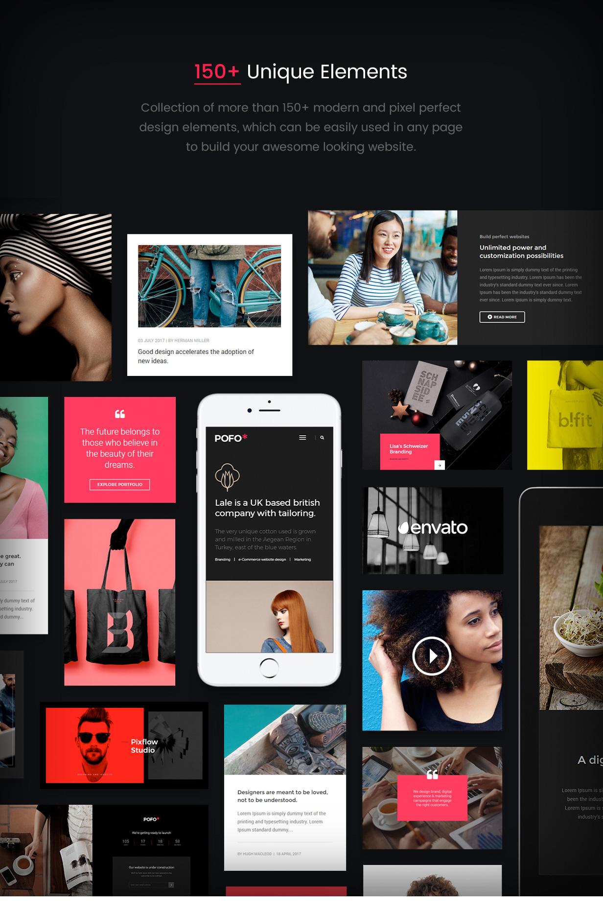 \ pofo wordpress elements - Pofo – Creative Portfolio and Blog WordPress Theme