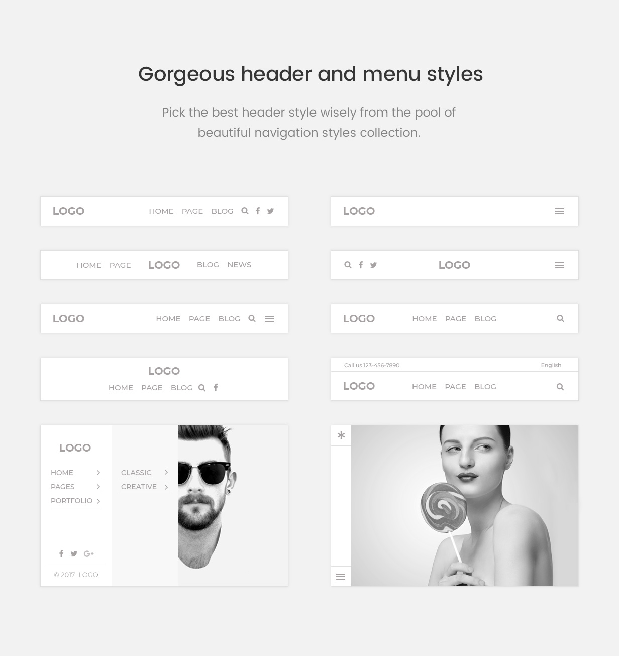 \ pofo wordpress header menu styles - Pofo – Creative Portfolio and Blog WordPress Theme