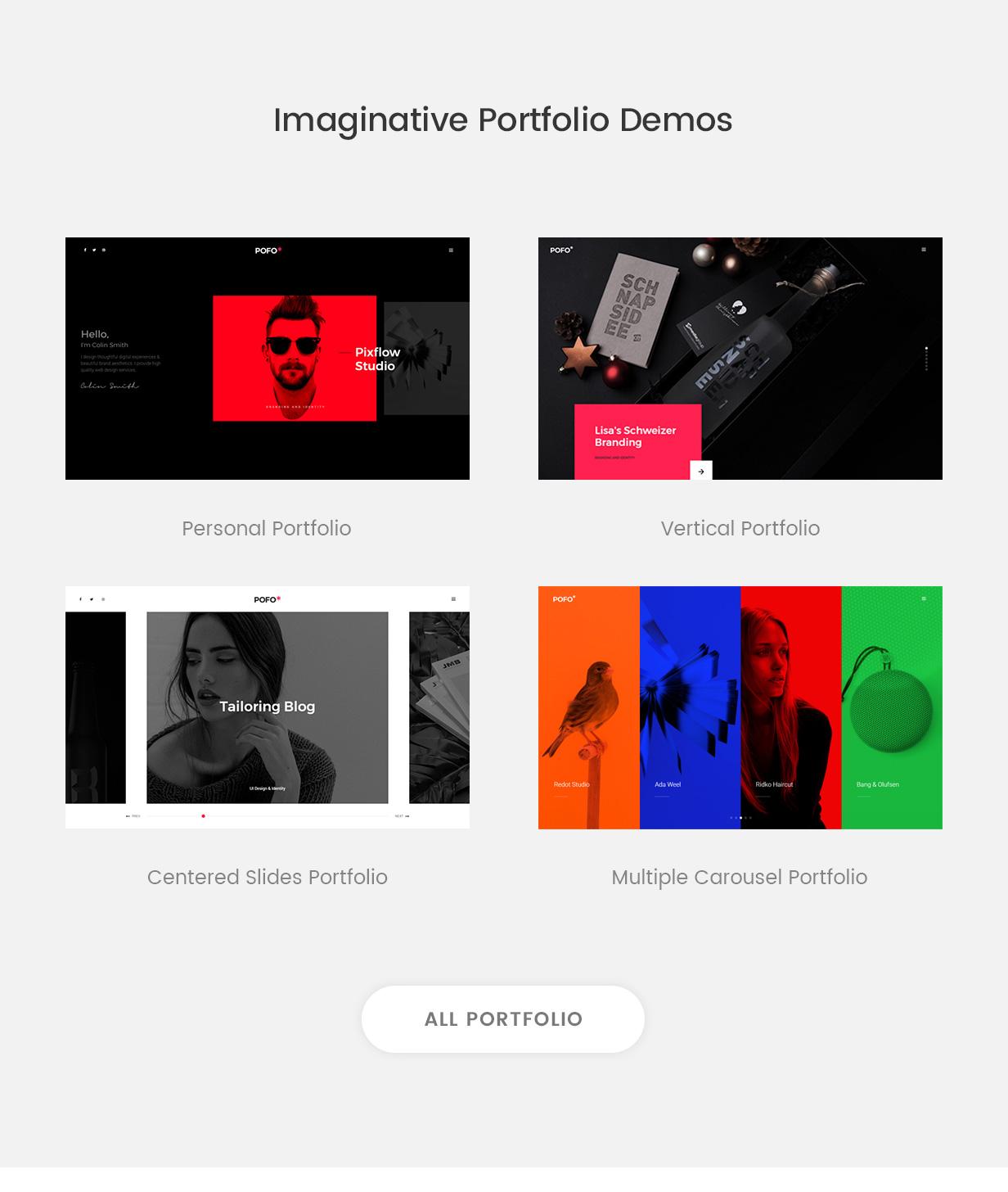 \ pofo wordpress portfolio demos - Pofo – Creative Portfolio and Blog WordPress Theme
