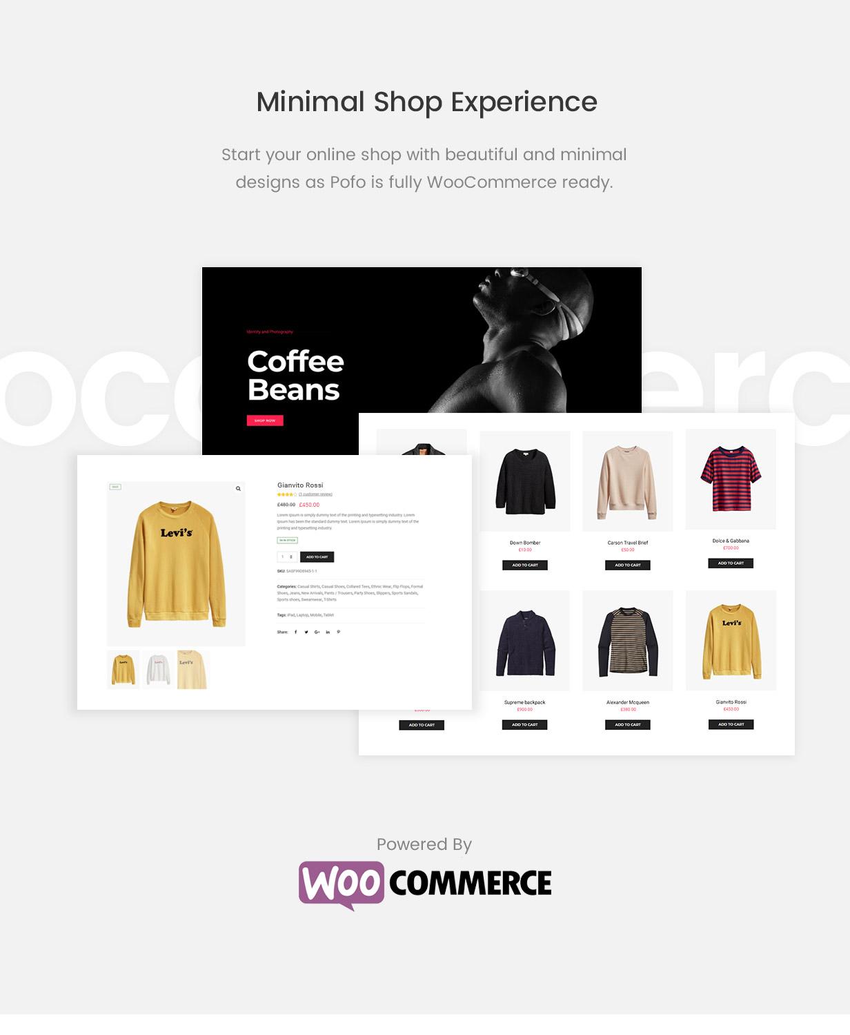 \ pofo wordpress shop new - Pofo – Creative Portfolio and Blog WordPress Theme